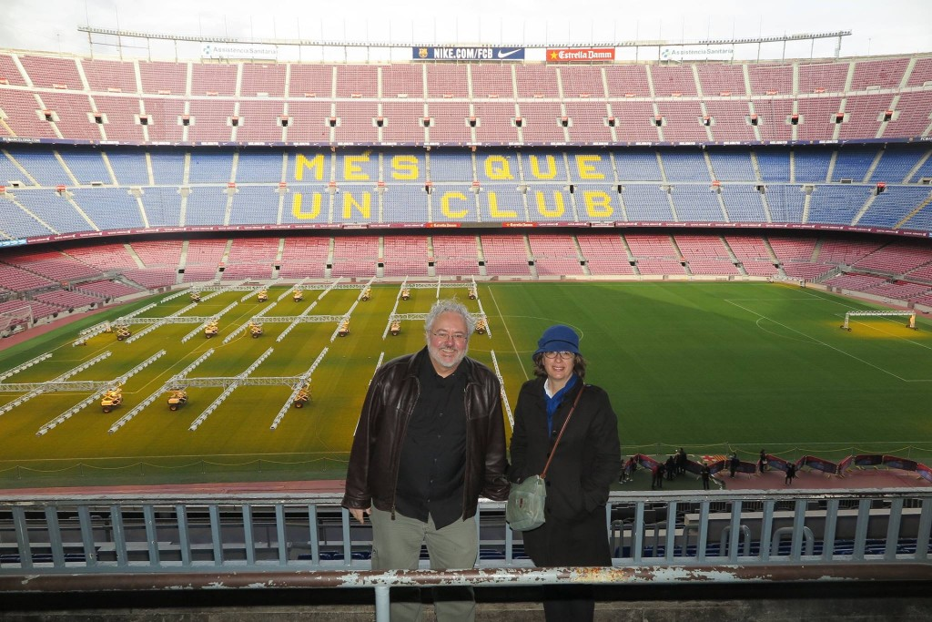 Mauricio Resende and Helena Ramalhinho at Camp Nou (FCB)